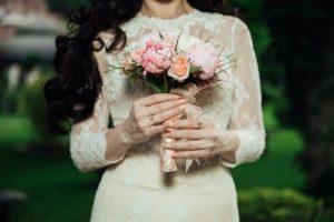 Malá svatební kytice.