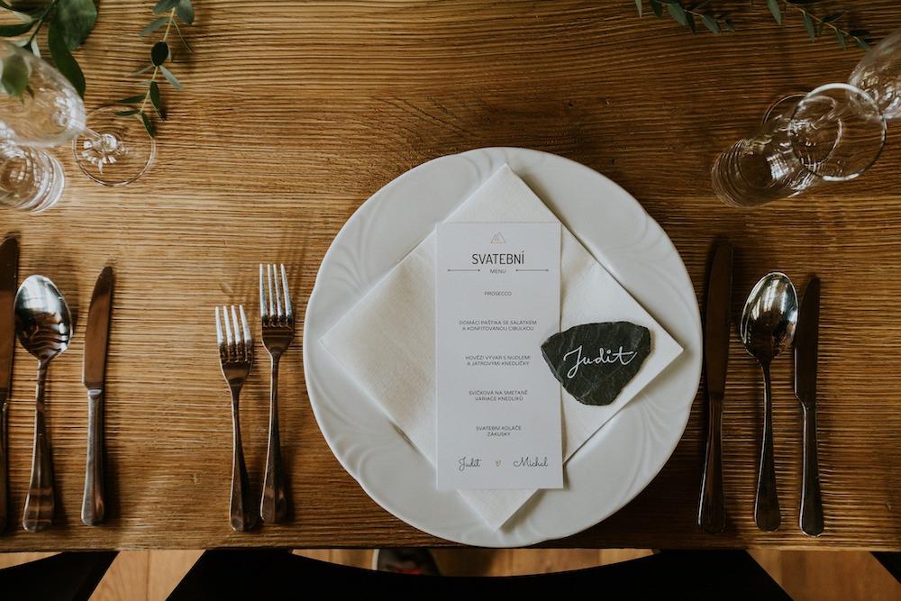 Svatební menu Resortu Nová Polana.