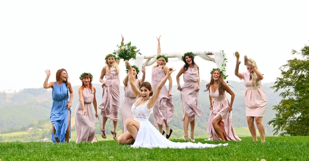 Svatba na louce v Beskydech