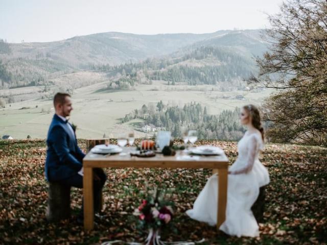 Svatba v Beskydech na podzim