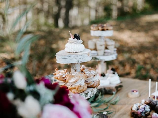 Svatební candy bar - detail