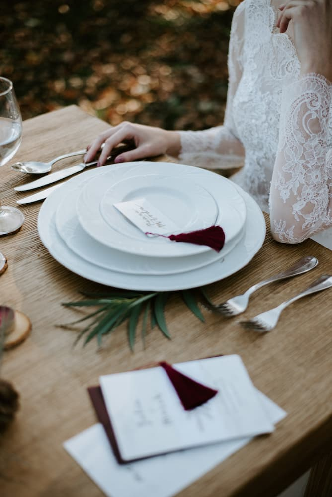 Svatební prostírání - detail