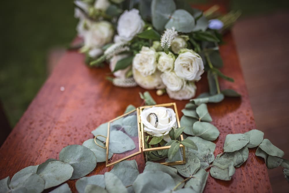 Svatební prstýnky novomanželů