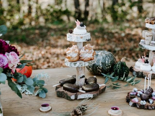 Svatební sladký stůl - detail