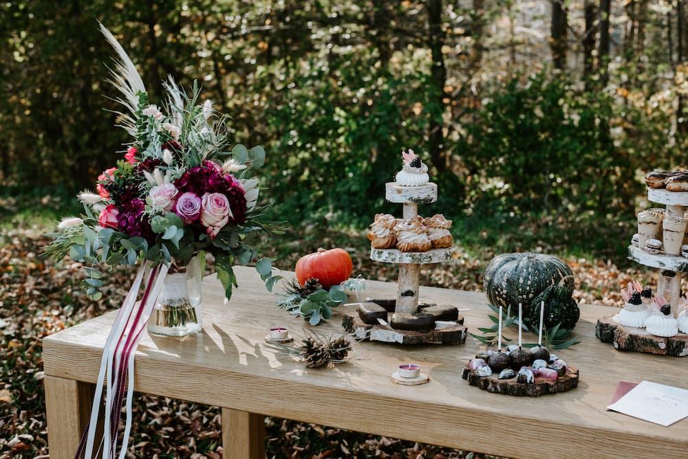 Svatební sladký stůl - detail II