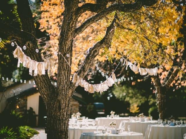 Svatba na zahradě.