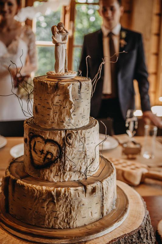 Svatební dort - bříza.