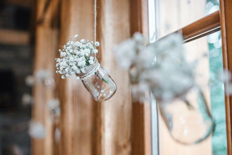 Sklenice s kvetinami
