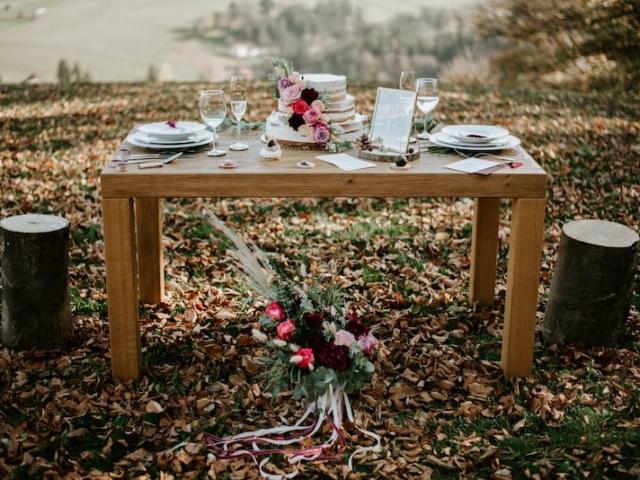 Podzimní svatební tabule