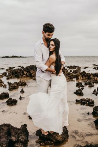 Nevěsta a ženich - u moře