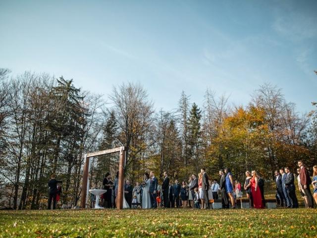 Svatební palouček Resortu Nová Polana - podzimní přírodní svatba